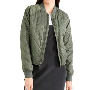 NWT Vince Quilted Bomber Lined Jacket Coat